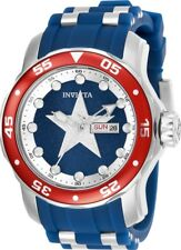 Invicta 25703 Marvel Men's 48mm Stainless Steel Blue Dial Rubber/Steel Watch