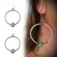 Mode Kreis Perle Hoop Anweisung geometrische baumeln Ohrringe Frauen Schmuck
