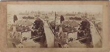 Prague République tchèque Stéréo Stereoview Vintage Albumine ca 1865