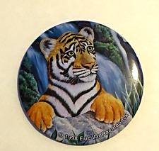 Vintage Pinback Button Tiger Eric VanRaemdnock 1998