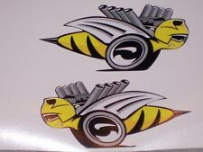 PAIR Rumble Bee DECALS Decal Sticker Left and Right side Super