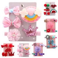 5Pcs Newborn Kids Infant Hairpin Baby Girl Cartoon animal motifs Hair Clip Set