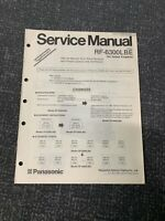 Service Manual  Supplement (1) RF-6300 LBE For Panasonic ( Radio)
