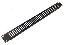 """PACK OF 2x 1u VENTED BLANK PANEL - Metal Blanking Plate for 19"""" Rack Cabinets"""