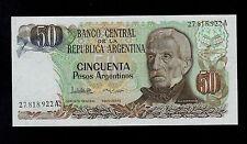 ARGENTINA 50  PESOS ARGENTINOS  ( 1983-85 ) A  PICK # 314  UNC BANKNOTE.