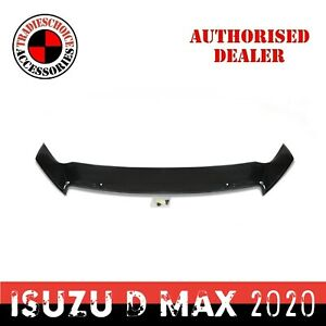 Bonnet Protector For Isuzu D-MAX 08/2020+ MY21 Tinted Guard Dmax Black Durable
