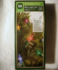 String of 50 Christmas Lights Mini Bulbs Glass Holiday Time Light Set 12' Indoor