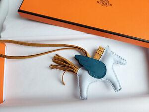 Authentic NEW Hermes Pegase Rodeo Pegasus charm PM Small Blue