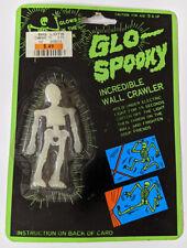 GLO-SPOOKY Incredible Wall Crawler VINTAGE Rubber Skeleton GLOW IN THE DARK Mint