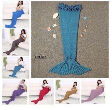 Handmade Cocoon Crocheted Mermaid Tail Sofa Blanket Knit Lapghan Beach Quilt Rug