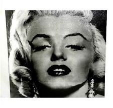 Stretched Canvas Marilyn Monroe - Black & White Portrait (New)