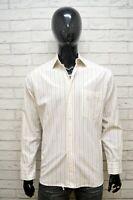 HUGO BOSS Camicia a Righe Uomo Taglia XL Maglia Camicetta Chemise Shirt Man