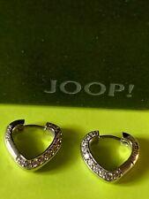 JOOP! Top Damen-Ohrringe, Herz Creolen mit Zirkonia 925 Silber, JPCO ** NEU **