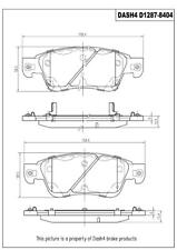 Disc Brake Pad Set-Coupe Front Dash 4 Brake CD1287