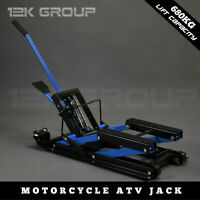 680KG Hydraulic Motorcycle Motobike Lift Jack Motorcycle ATV Stand Hoist Blue
