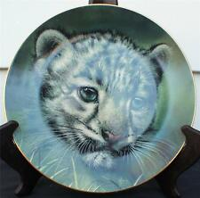 1991 Princeton Gallery Curbs of Big Cats Plate Collection Snow Leopard Cub Plate