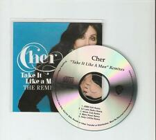 CHER 'TAKE IT LIKE A MAN' US OFFICIAL 5 REMIX  CD PROMO NO. 3