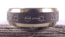 Star Of David Magen Judaica Stainless Steel  Ring Kabbalah Gold Silver Gift
