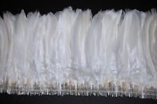 "12"" NAGORIE FRINGE DYED - WHITE 6-8"" Trim Feathers Hats Costume Halloween"