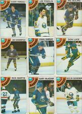 1978-79 Topps Hockey Sabres 9 Card Lot Gilbert Perreault VG-EX Cond. #9,27,42,58