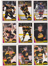 1987-88 OPC Vancouver Canucks team set NM-MT to Mint razor sharp