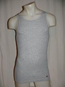 Jockey Tank Vest Sleeveless Shirt a-Shirt 2 Double Rib Grey Melange New