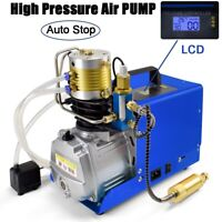 30MPA Electric LCD PCP Air Compressor High Pressure Pump Rifle Scuba Auto Stop