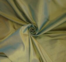 5 Metres Blue & Yellow Tone Faux Silk / Taffeta Curtain Fabric Material
