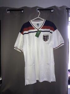 England 1982 Football Shirt Soccer Jersey Score Draw