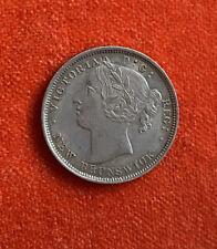 Canada New Brunswick 20 Cents Unrecorded 8 Over Small 8 RARE!