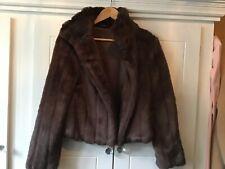 Beautiful Brown Faux Fur jacket size 8