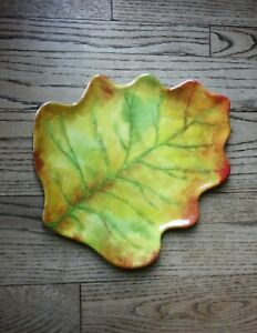 Pier 1 Melamine Platter Autumn Leaf Fall Thanksgiving Appetizer Serving Tray NWT
