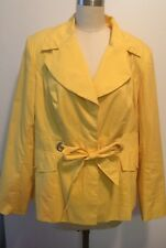 Cynthia Rowley Yellow Cotton Blend Lined Jacket M