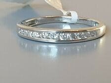 Revere 18ct White Gold 0.25ct Diamond Eternity Ring Size Avail M,N,O,P  rrp £499