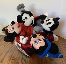 Disney 70th Anniversary Mickey Bean Bag Set Plush
