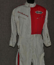 VINTAGE WHITE HINCHMAN RACING SUIT INDY DAVE BLANKENSHIP DRIVER PIT CREW