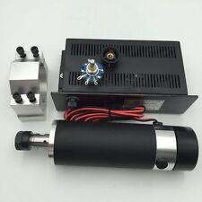 600W  Air-cooled Spindle Motor ER16 DC110V &Mach3 Power Supply & Bracket CNC Kit