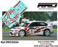 DECAL/CALCA 1/43; Seat Cordoba WRC; Evans-Savage; Seat Lurgan Park 2001