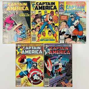 Captain America (Vol. 1) 5 Comic Lot (1968-1996) Marvel 275,284,291,299,378