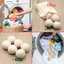 6PCS Premium Hypoallergenic Wool Tumble Dryer Balls – Reusable.Static redu