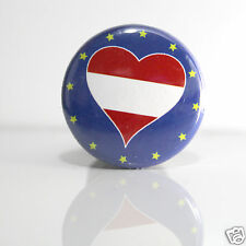 2 Badges Europe [25mm] PIN BACK BUTTON EPINGLE  Autriche