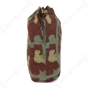 Italian Military San Marco Duffel Bag - Surplus Camouflaged Camping Duffel Bags