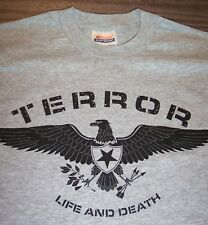 Terror Life and Death T-Shirt Band Youth Large 14-16 New