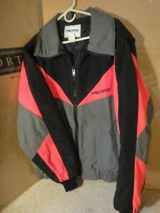 Vintage Polaris Snowmobile Racing Jacket, Winter Coat Size Extra Large, XL