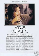 Coupure de presse Clipping 1979 Jacques Dutronc   (4 pages) + poster