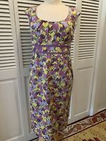 Boden Dress Size US 6R Sleeveless Pastels Great Condition