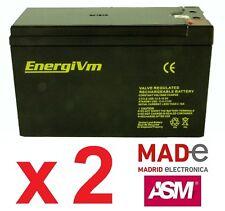 2 X Baterías de plomo AGM - 12V 9Ah - EnergiVm MVH1290 - UPS/SAI - Alto rendimie