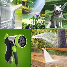New listing Garden Car Hose Nozzle Hand Sprayer 8 Pattern Adjustable Heavy Duty Metal