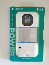 Never used -Logitech Protection + Power battery case for Samsung Galaxy S5 White