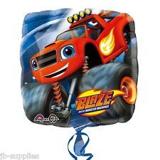 """18"""" BLAZE AND THE MONSTER MACHINES DOUBLE SIDED FOIL HELIUM BALLOON 32280"""